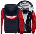 USA size Anime Tokyo Ghoul Ken Kaneki Cosplay Jacket Sweatshirts Thicken Hoodie Coat