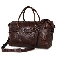 Nesitu High Quality Large Capacity Coffee Real Skin Genuine Leather Men Travel Bags Male Men Messenger Bags Shoulder Bag M7079