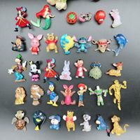 mixed wholesale 100pcs/lot cartoon bear mickey doll pvc action Mermaid animals figures set toys for children gifts Y58