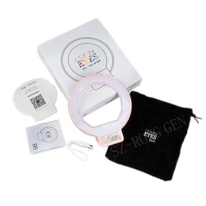 Image 5 - Portable pince on mignon belle LED Selfie anneau lumière lampe autoportrait supplémentaire remplissage éclairage pour iPhone HTC Smartphone
