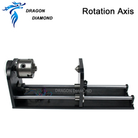 DRAGON DIAMOND Rotary Engraving Attachment Rotation Axis with Rollers Stepper Motors for Laser Engraving Cutting Machine