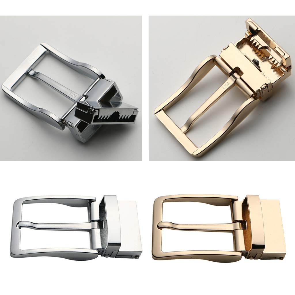 Alloy Rotatable Belt Buckle Single Prong Square Leather Belt Buckle For Men 4cm