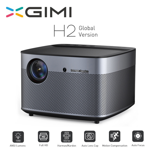 XGIMI H2 Full HD Projector 1920*1080 1350 ANSI lumens 300 inch DLP 3D Projector Support 4K Android Wifi Bluetooth Beamer