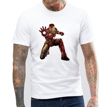 BLWHSA Avengers Iron Men T Shirt Fashion T shirt America Movie Super Hero Ironman Custom Made