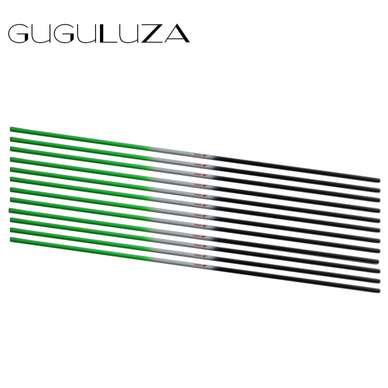 GUGULUZA 30 Pure Carbon Arrow Shafts Fluorescent Green Bow Archery Shaft for Outdoor Hunting Archery Shooting 12pcs/lot wholesale archery equipment hunting carbon arrow 31 400 spine for takedown bow targeting 50pcs