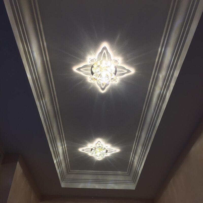 Wohnzimmer Farbe Scheinwerfer Led Lampe Bunte Downlight Embedded Kristall Gang Korridor Licht Eingangshalle Einstiegsleuchten