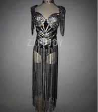 Fashion Sparkly Rhinestones Bodysuit Stage Sexy Luxury Leotard Women Birthday Celebrate Female Singer Party Dance