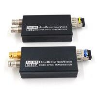 Мини HD SDI волоконно оптические медаи конверторы с SFP симплекс LC одномодовый SDI сигнал над волокном 20 км