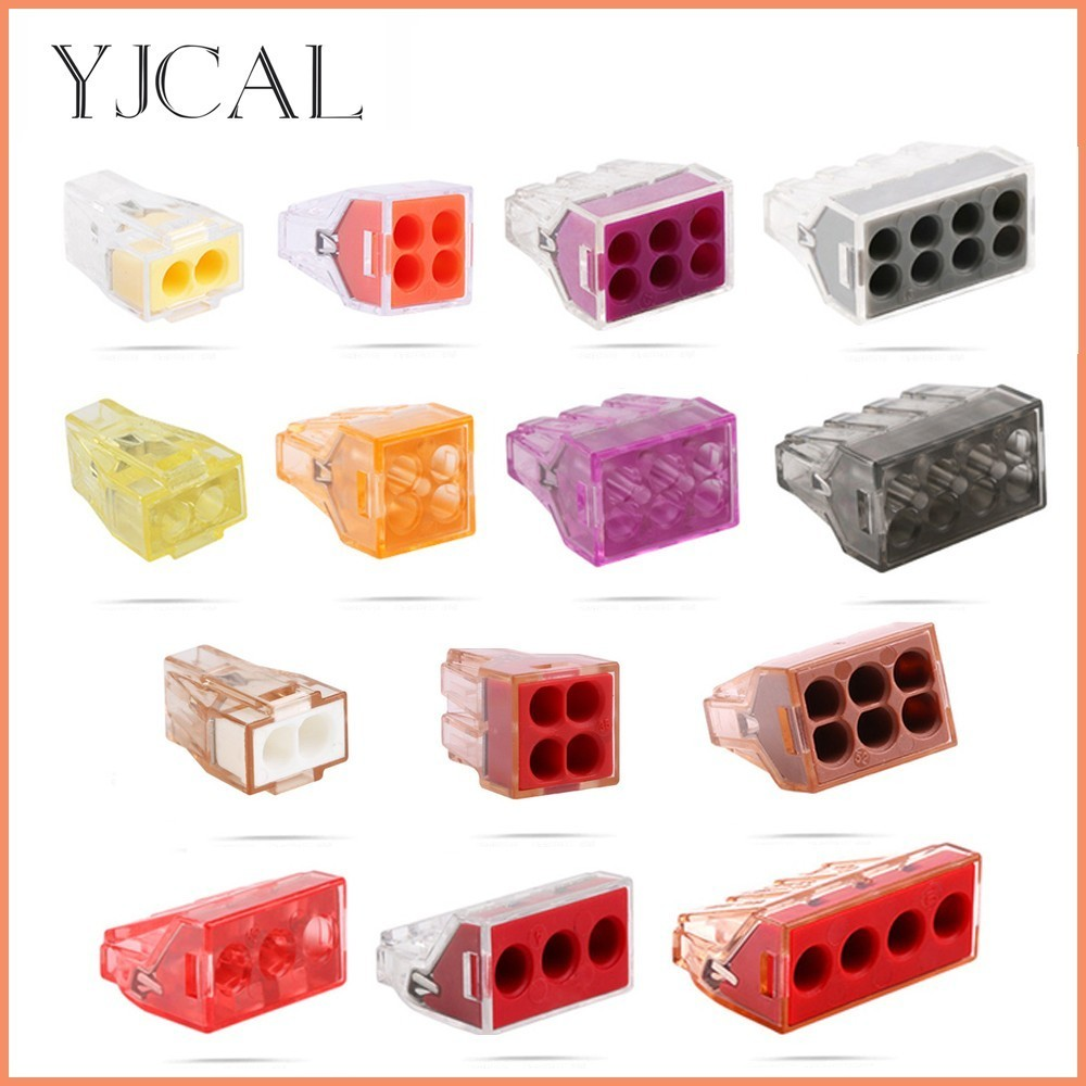 Wago Type Hard Wire 10PCS Wire Terminal Quick Connector Plug Line Deconcentrator Bobbin Copper Insulated Joint Block Accessories 5pcs irlr2905trpbf irlr2905tr irlr2905 irlr2905 to 252 ic