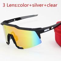 American Brand 100 SpeedCraft Outdoor Sports Bicycle Sunglasses Bicicleta Gafas Ciclismo Polarized Cycling Glasses Eyewear