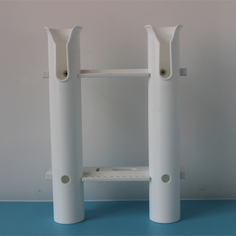 Side Mount White Plastic Rod Holder for Boats