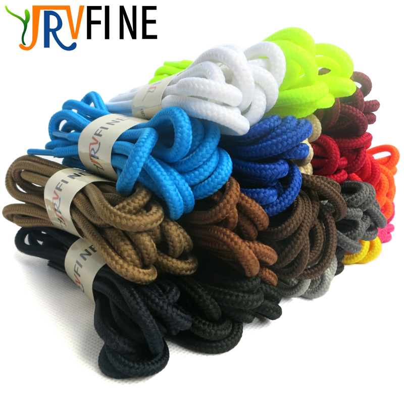 YJRVFINE 1 Pair High Quality Round Shoe Laces Strings Athletic Sports Shoelaces for Boots&Sneakers&Casual Shoes Shoelace Rope труба гофрированная пнд tdm electric d20мм с зондом 100м черный