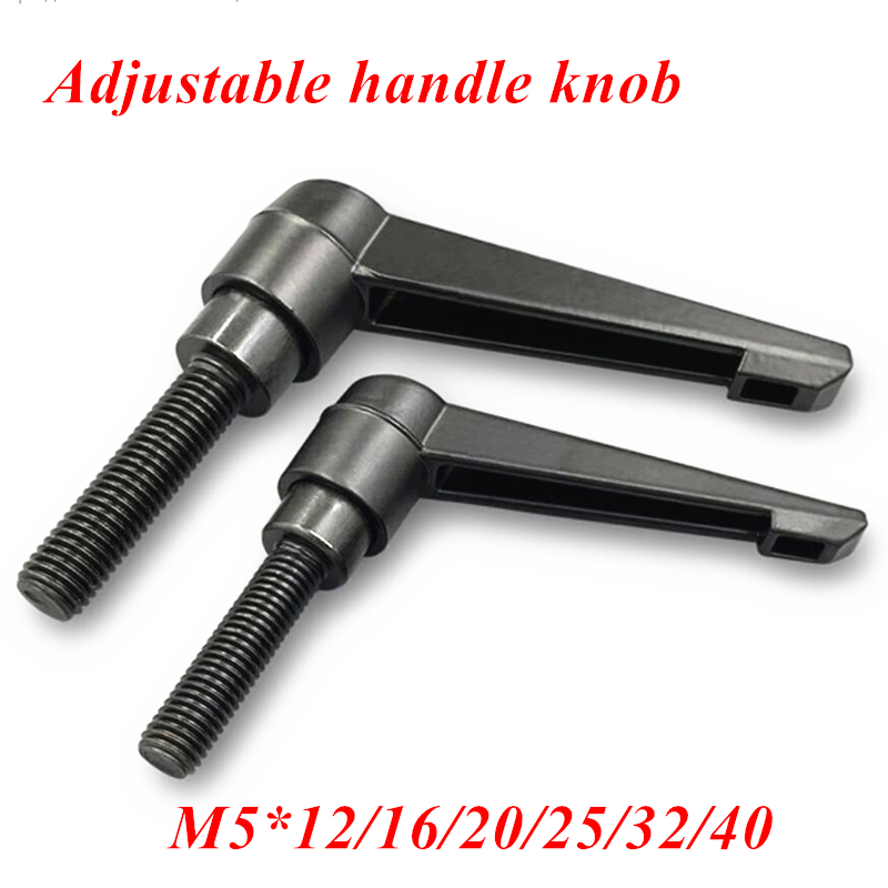 Machinery M5 x 20mm Threaded Knob Adjustable Handle Clamping Lever