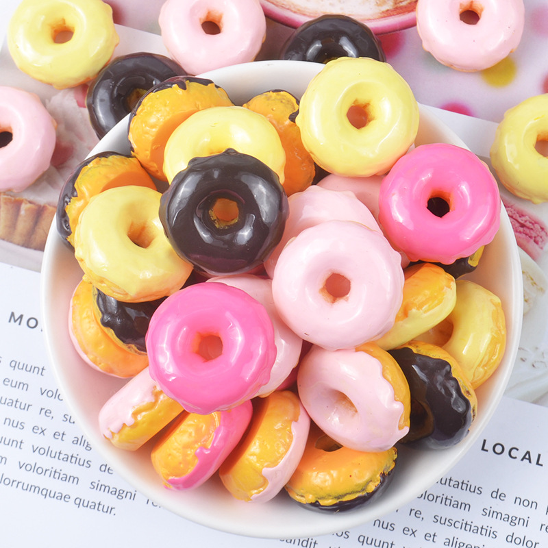 6Pcs Cute Mini Play Toy Fruit Food Cake Candy Fruit Biscuit Donuts Miniature For Dolls Accessories Kitchen Play Toys