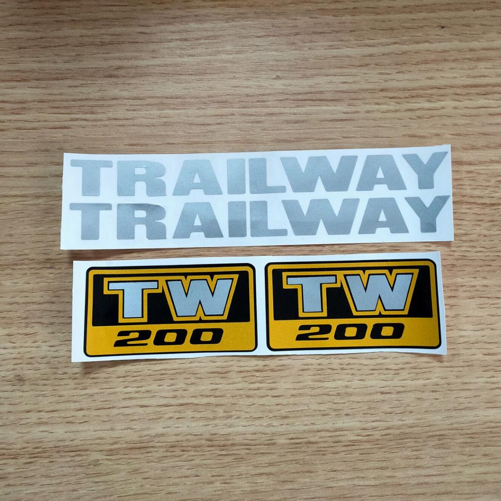 New Motorcycycle Reflective TW200 TW225 LOGO Decal Stickers For YAMAHA TW200 TW225