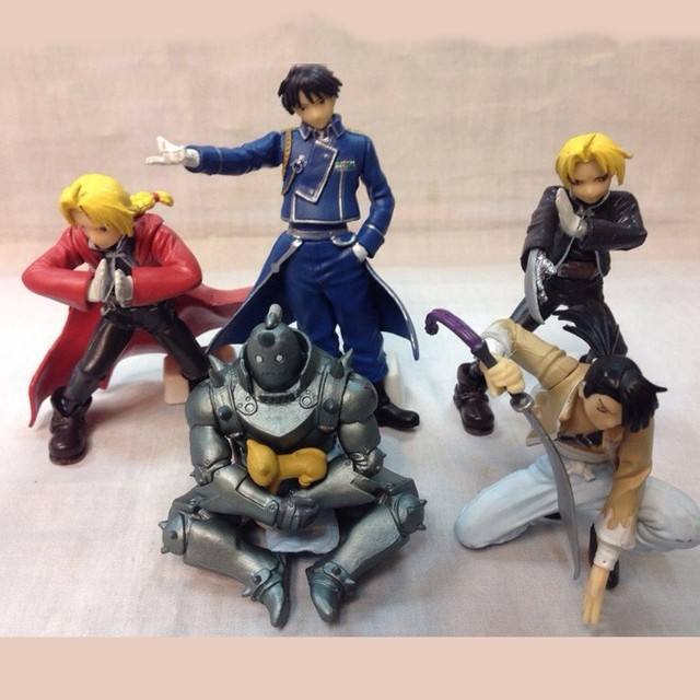 Fullmetal Alchemist 5pcs/set PVC Action Figure Toys