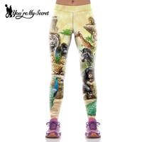 New Arrival Animal World Printed Woman Yoga Pants Fashion Workout Sport Fitness Leggings Pantalones Mujer KYK1071