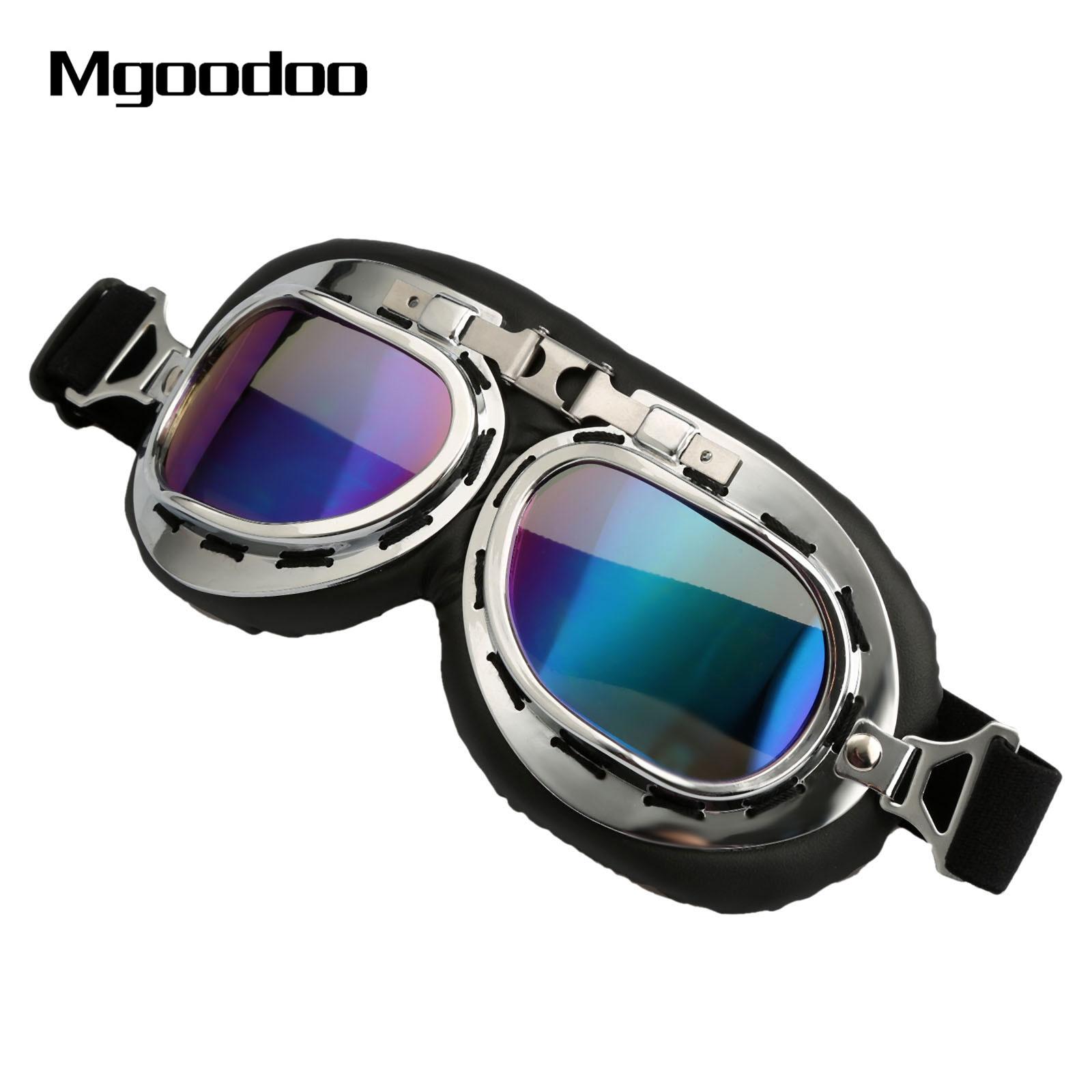 Винтаж наружное мотокросса скутер мотоцикл Очки Солнцезащитные очки для женщин в стиле ретро ATV Лыжный Спорт Велоспорт гонки по бездорожью ...