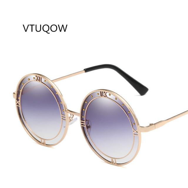 dd6e90836bd 2019 Round Sunglasses Women Brand Designer Retro Rome Frame Gradient Lens Sun  Glasses For Women Lady Female Shades Unique UV400