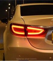 Hireno Tail Lamp For Mazda Mazda6 ATENZA 2014 2015 2016 Taillight Rear Lamp Parking Brake Turn