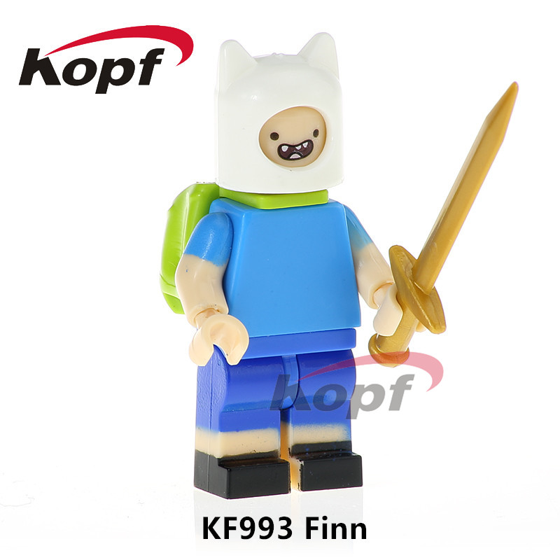 Building Blocks Super Heroes Single Sale Adventure Time The Human Finn Annabelle Model Action Bricks Children Gift Toys KF993 single sale building blocks super heroes bob ross american painter the joy of painting bricks education toys children gift kf982