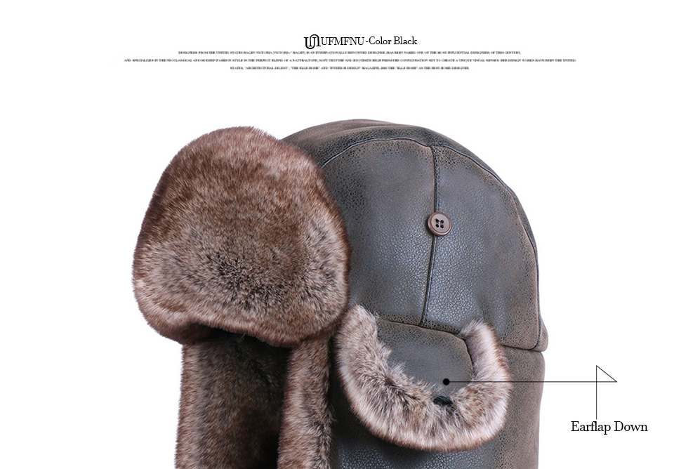 40e4fcf1c Super Discount] Vintage Bomber Hats Winter Men Russian Ushanka Hat ...
