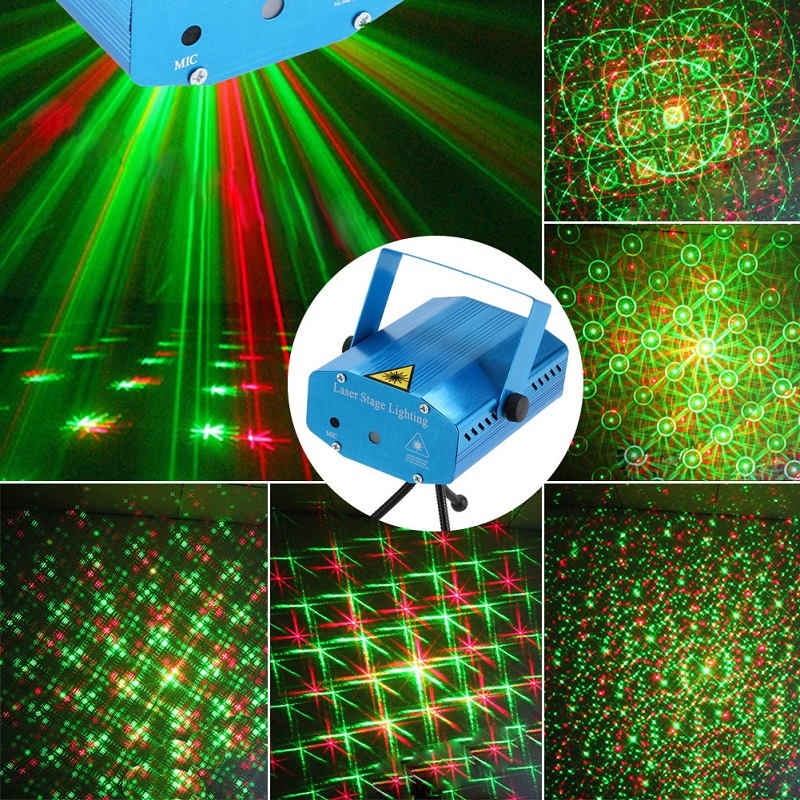 R&G Red Green Laser Stage Light Christmas Birthday KTV Party DJ Disco Stage Laser Lighting Projector Light Pattern Lighting