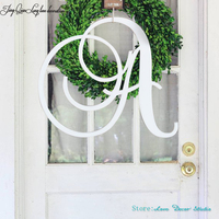 20tall Large Sizes Family Name Letter wedding decoration Outdoor Safe Front Door Circle Last Name initial, Door Decor