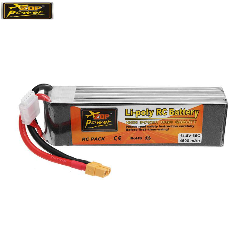 ZOP POWER 14 8V 4500mAh 65C 4S Lipo Battery XT60 Plug For RC Models Multicopter Frame