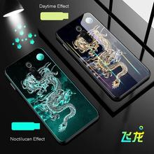 Tempered Dragon Luminous Glass Case For Redmi K20 Mi9T Soft Silicone Frame Back Cover Xiaomi MI9 Pro Phone Cases