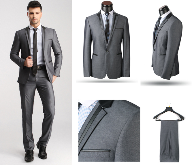 2015 new arrival Brand Fashion men suit Single Breasted Tuxedo ...