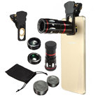 Cell Phone Camera Lens Mobile Zoom Lens Phone Telescope 4 in 1 Kit Wide Angle Macro 10X Fisheye Bar Phones Magnification