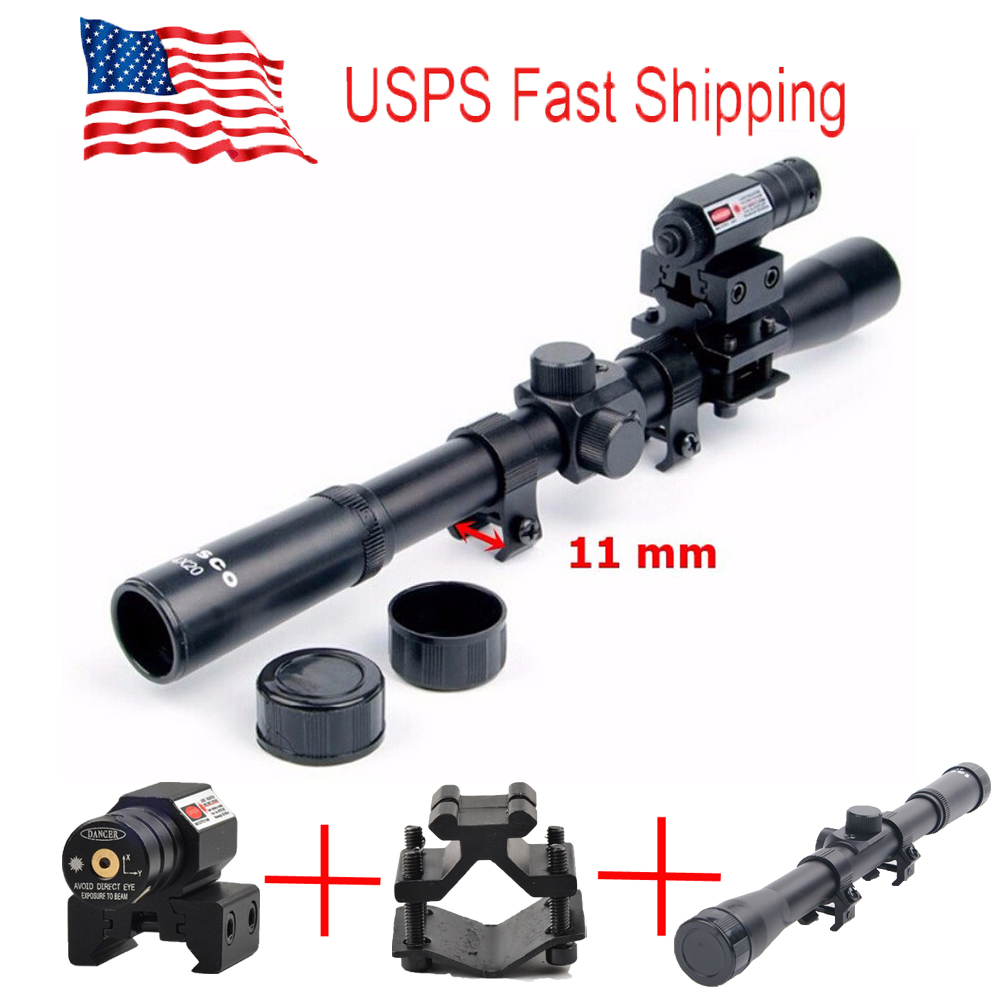 Rifle Scope Red Dot Laser Sight Optics Tactical Crossbow Rifle Hunting Sport