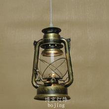 БЕСПЛАТНАЯ ДОСТАВКА 3 ШТ. Мода подвесной светильник балкон краткое деревенский железа античный фонарь керосиновая лампа одного подвесной светильник