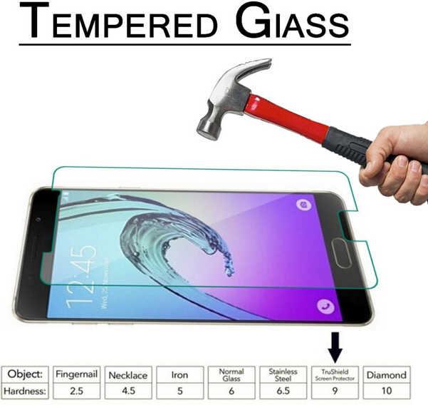 2.5d حامي الشاشة لسامسونج A3 A5 A7 2017 2018 J5 Prime واقية الزجاج فيلم لسامسونج J3 J5 J7 j2 2016 الزجاج المقسى