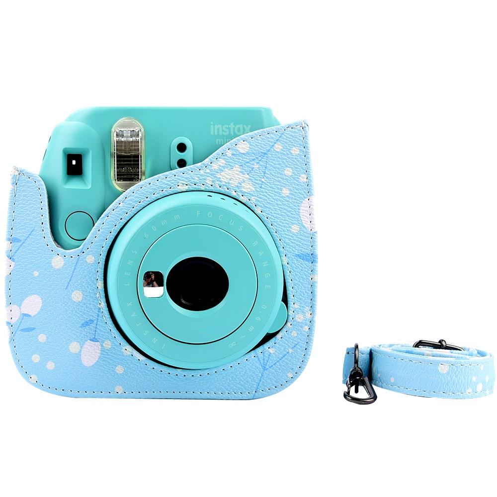 Fujifilm Instax Mini 8/Mini 8s Case - Pu Leather Instax Mini 8 Camera Case Bag - Instax Mini 8 Case with Shoulder Strap Pocket