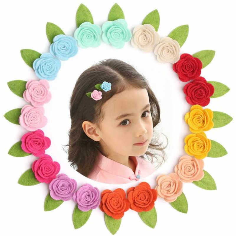 Kawaii Роза Заколка для волос заколка для детей заколка для волос заколка шпилька аксессуары для девочек детская заколка для волос головной убор
