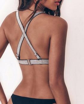 Sexy Micro Bikinis 2019 Women Push Up Swimwear female bathers Bathing Suit Sequin Bikini Set Triangle Swimsuit Beach Biquini 2