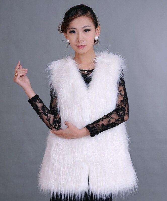 Manches White Plus Fourrure Gilet Taille De Longues black Sans Femmes grey La nqR40Xz
