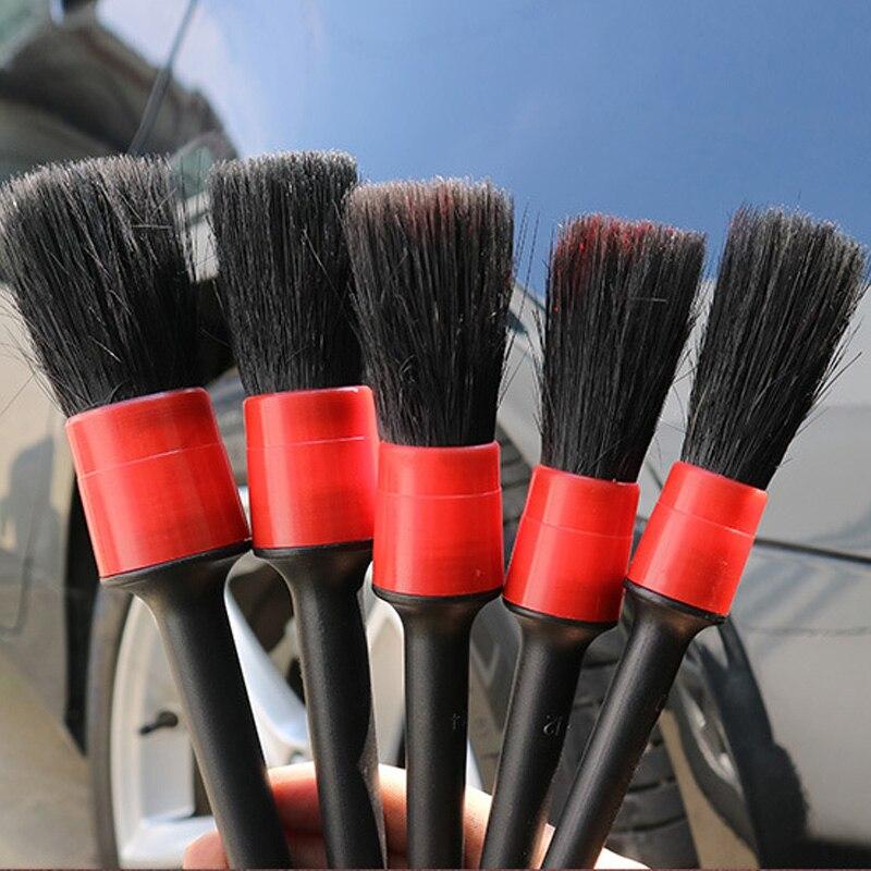 novo 5 pcs conjunto de escova de detalhamento automatico para a limpeza do carro da motocicleta