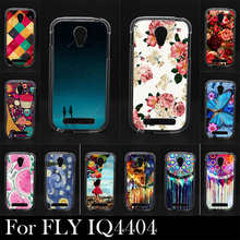 Фотография For FLY IQ 4404  IQ4404 High Quality Transpatent Soft Silicone tpu Color Paint Case Mobile Phone Cover Case