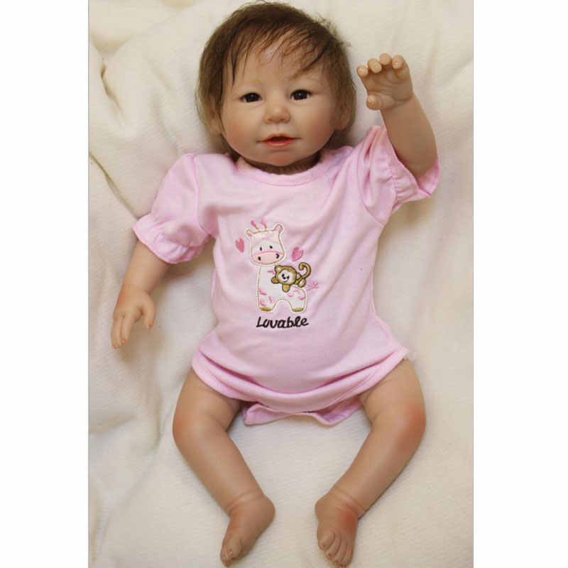 Leuke Bebe Reborn 20 inch Siliconen Reborn Baby Pop 48 cm Pop Playmate Cadeau Voor Meisjes Verjaardag Boeketten Pop Aziatische baby Meisjes Speelgoed