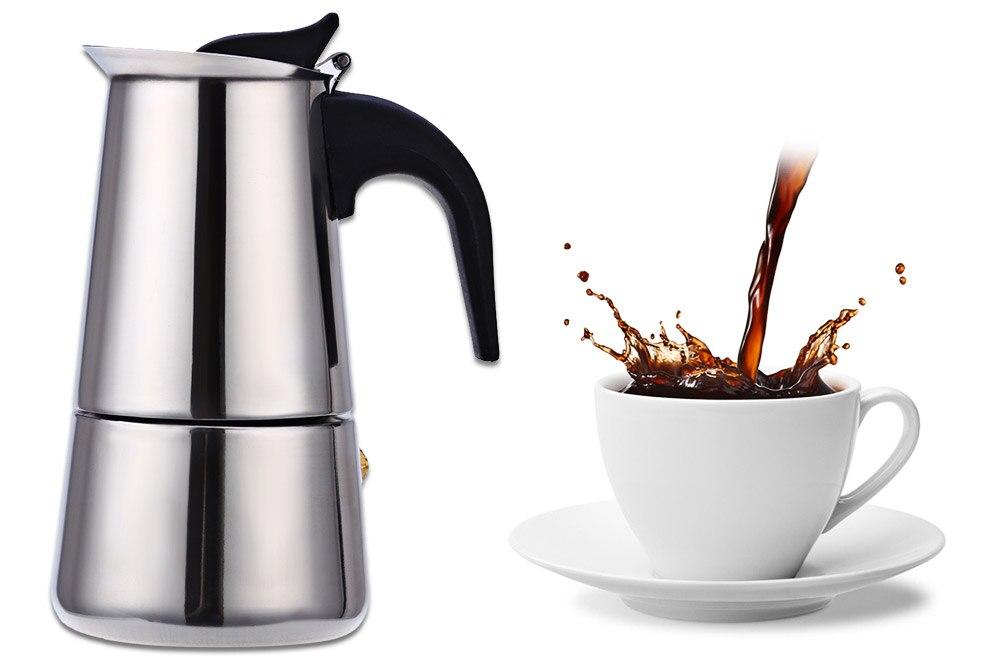 Acier inoxydable Moka Cafetière Moka Espresso Latte Cuisinière ...