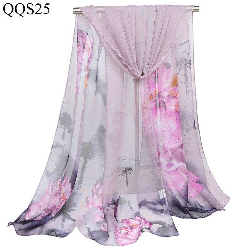 Nouvelle écharpe en soie georgette châles capes pour les femmes d'été mode foulard en soie en mousseline de soie hijab musulman bandeau châles