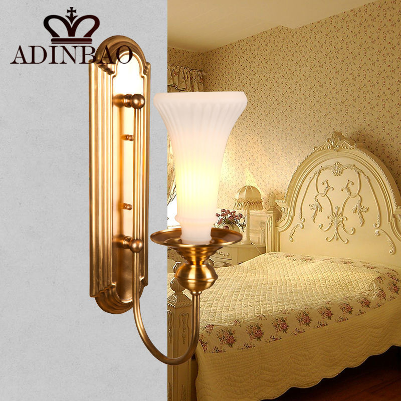 Classical Golden Brass Wall Lamp Indoor Wall Sconce Lighting Trumpet ...