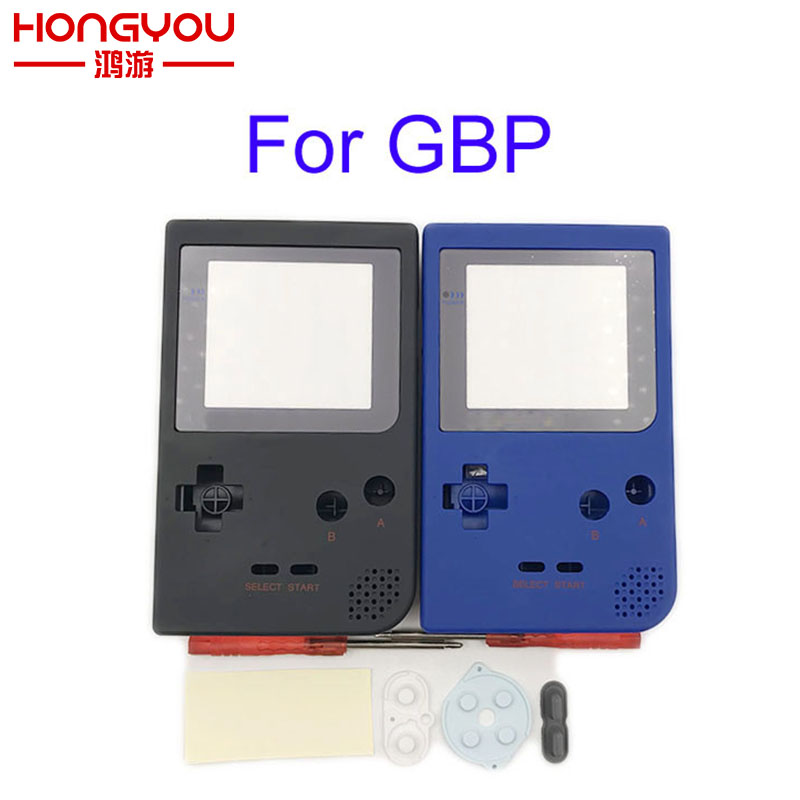 Black Blue Soft Surface Case Shell Fit For GameboyGB Pocket GBP Retro Game Console With Plastic Screen Lens Boy Console