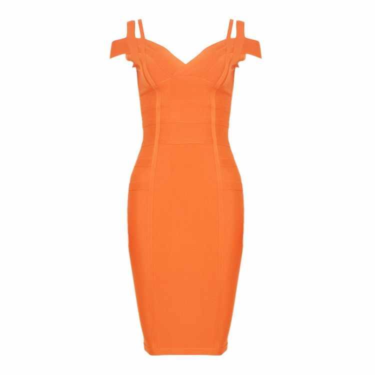 2019 бежевый розовый orange слинг Бандажное платье пикантные вечерние Bodycon женская одежда оптом Осень-весна лето