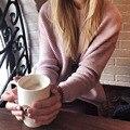 Yeeshan material complejo batwing mangas suéter de pelo de conejo de lana de las mujeres con cuello en v suéteres de manga larga rosa claro de invierno suéter