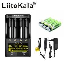 NEW LiitoKala lii 500S 3.7V 18650 26650 charger+ 4pcs 3.7V 18650 3400mAh INR18650B Rechargeable Battery For Flashlight batteries