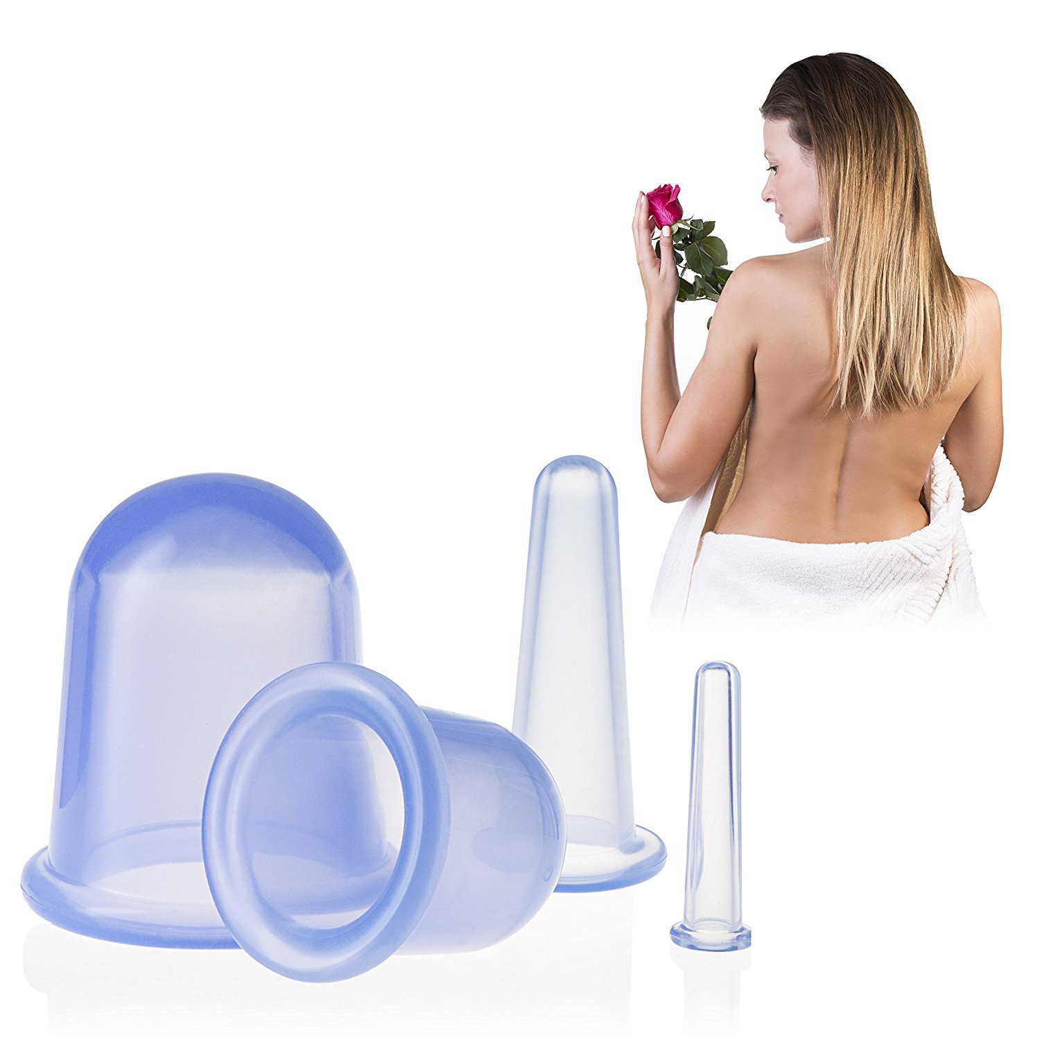 4pcs lot Vacuum Silicone Cupping Moisture Absorber Anti Cellulite Suction Cup Massage Cans Chinese Cupping Therapy